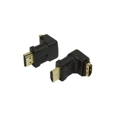 Adaptateur HDMI 1.4 mâle femelle coudé 90°