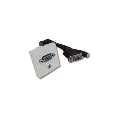 Plastron blanc 45x45 VGA  HD15 jack 3