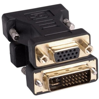 Adaptateur DVI I mâle 24+5 dual link – VGA femelle