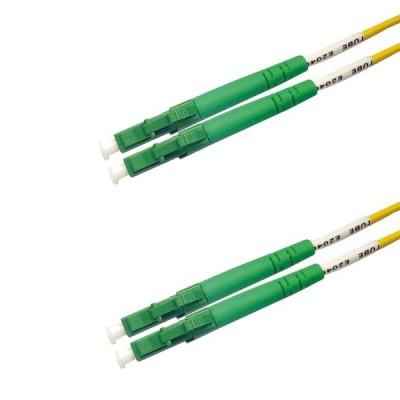Jarretière optique monode OS2 duplex 9/125µ  LC APC/LC APC – 2m00