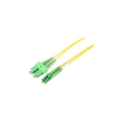 Jarretière optique monode OS2 duplex 9/125µ  LC APC/SC APC – 1m00