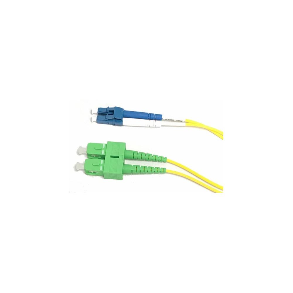 Jarretière optique monode OS2 duplex 9/125µ  SC APC/LC UPC – 1m00