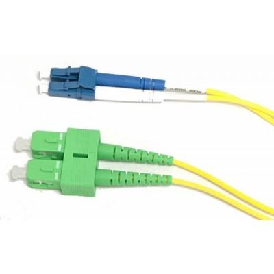 Jarretière optique monode OS2 duplex 9/125µ  SC APC/LC UPC – 10m00