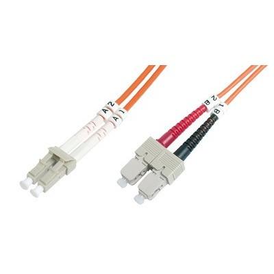 Jarretière optique multimode OM2 duplex 50/125µ  LC/SC - 2m00