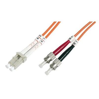 Jarretière optique multimode OM2 duplex 50/125µ  LC/ST - 10m00