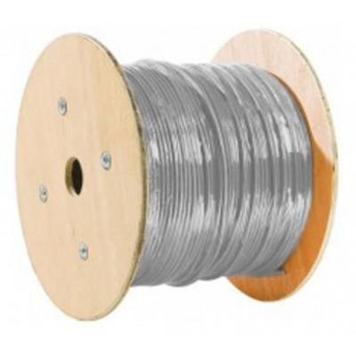 Câble F/UTP catégorie 5E monobrin LSZH gris en touret - 500m
