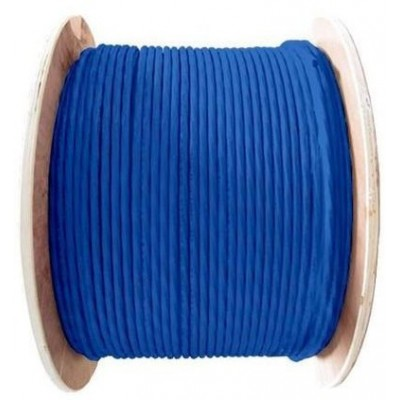 Câble U/FTP catégorie 6A monobrin LSZH bleu (RAL 5024) en touret – 500m