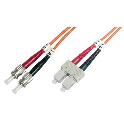 Jarretière optique multimode OM1 duplex 62,5/125µ  SC/ST - 10m00