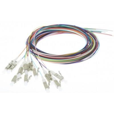 Pigtail multimode OM1 62.5/125µ LC rainbow lot de 12 - 1m