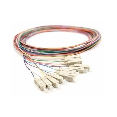 Pigtail multimode OM1 62.5/125µ ST rainbow lot de 12 - 1m