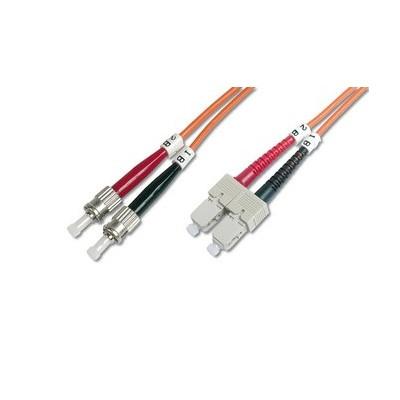 Jarretière optique multimode OM2 duplex 50/125µ  SC/ST - 10m00