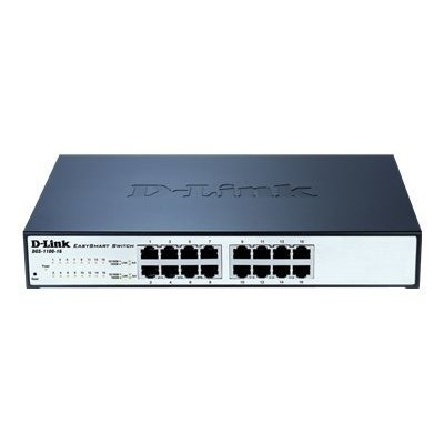 Smartswitch D-Link 16 ports gigabit 11'' rackable