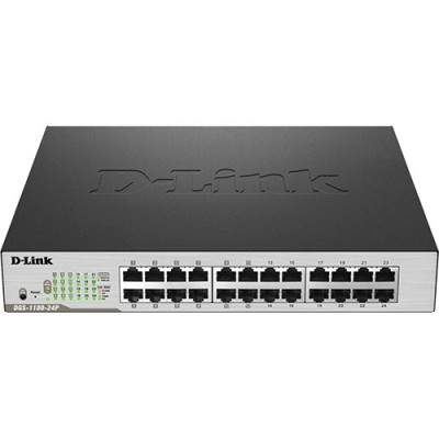 Smartswitch D-Link 24 ports gigabit dont 12 POE 100W 11'' rackable