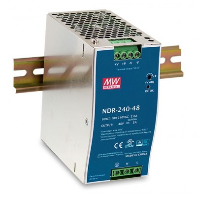 Alimentation 48V 240W pour switch Industriel format Rail-DIN