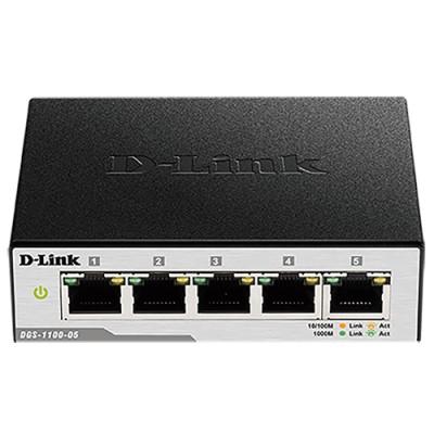 Switch de bureau 5 ports gigabits manageable boîtier métallique
