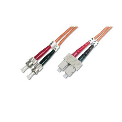 Jarretière optique multimode OM2 duplex 50/125µ  SC/ST - 1m00