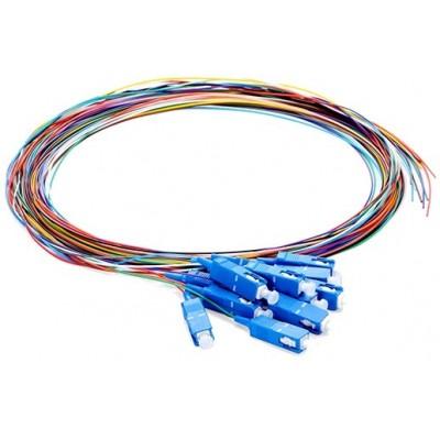 Pigtail monomode OS2 9/125µ SC/UPC rainbow lot de 12 - 1m