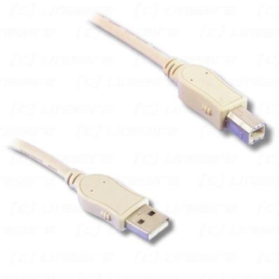 Cordon USB 2.0 A mâle / B mâle beige - 3m00