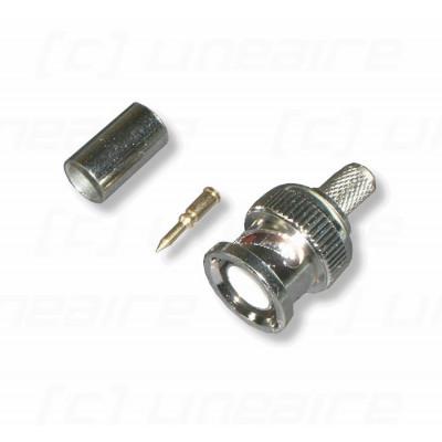 Connecteur BNC à sertir pour câble 75 ohms KX8