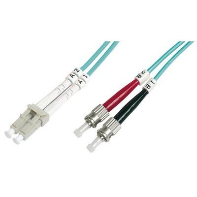 Jarretière optique multimode OM3 duplex 50/125µ  LC/ST - 1m00