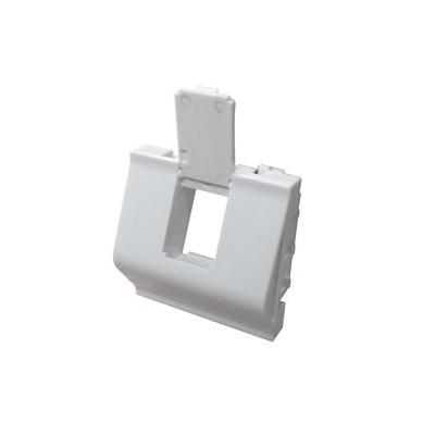 Plastron 1 port RJ45 keystone 45x45 incline à 40° blanc