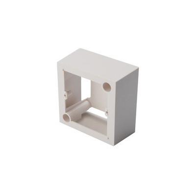 Boitier saillie 80x80mm compatible plastron 45x45 profondeur 42mm blanc pur (RAL 9010)