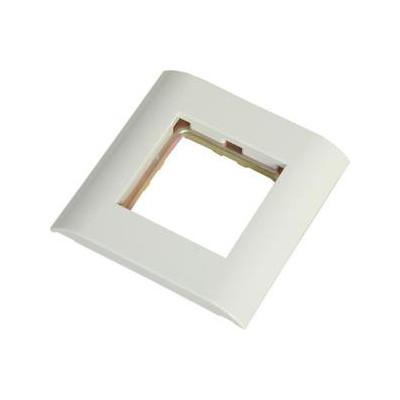 Cadre + grille pour boitier saillie 80x80  compatible plastron 45x45 blanc pur (RAL 9010)