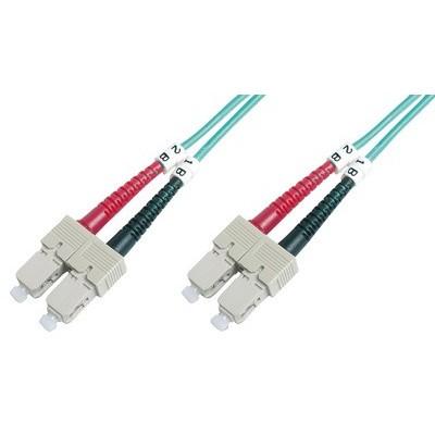 Jarretière optique multimode OM3 duplex 50/125µ  SC/SC - 1m00