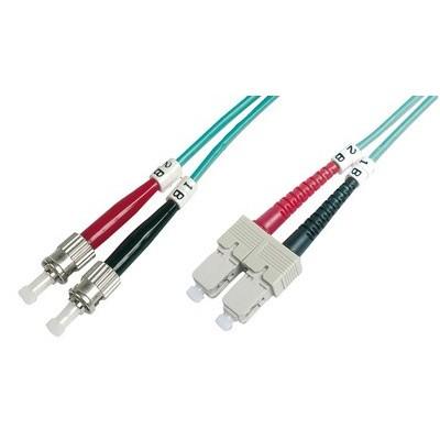 Jarretière optique multimode OM3 duplex 50/125µ  SC/ST - 1m00