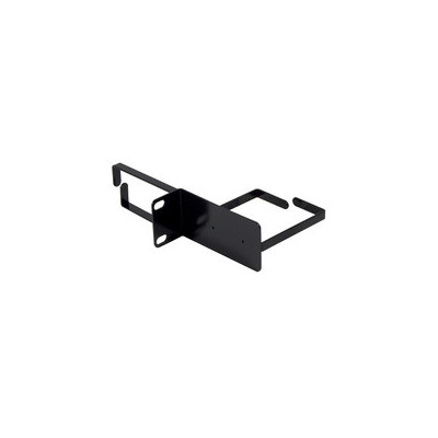 Anneau passe câble 1U horizontal et vertical 44x80x70mm noir  (RAL 9005)