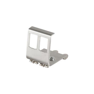 Adaptateur métal rail DIN pour deux modules Keystone