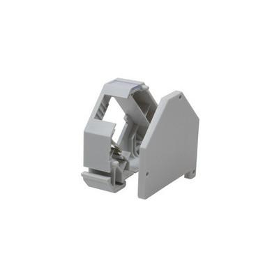 Adaptateur rail DIN pour module format keystone plastique gris