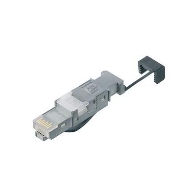 Connecteur RJ45 mâle pour câble monobrin catégorie 6 AWG 22-26