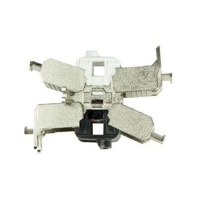 Noyau R45 catégorie 6A blindé double keystone pour jonction de 2 câbles monobrin