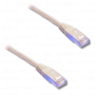 Cordon réseau F/UTP  catégorie 5E PVC gris - 1m00