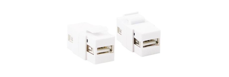 Connecteurs keystone USB 2.0